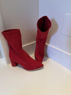 Slip-on laarzen rood