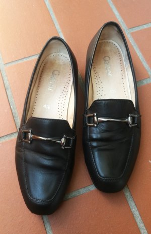 Gabor Slip-on Shoes black-silver-colored leather