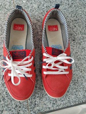 Adidas NEO Sneakersy wciągane ciemnoczerwony-stalowy niebieski