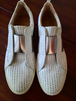 Slip-on Sneakers white-silver-colored