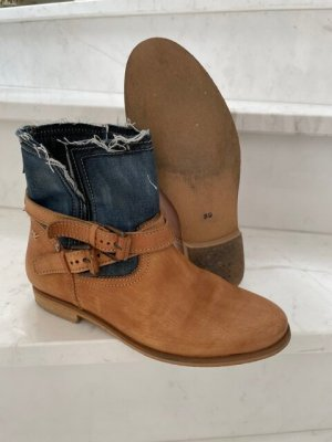 Otto Kern Slip-on Booties camel-steel blue