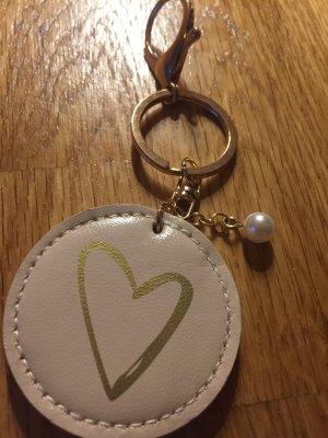 Schlüssel Anhänger mit Spiegel und Perle