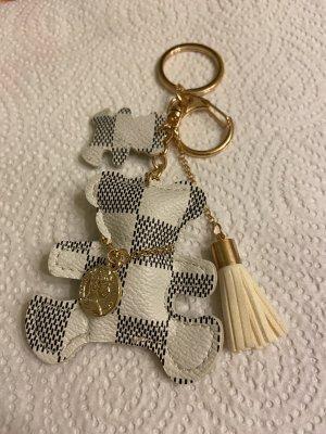 Porte-clés blanc-gris