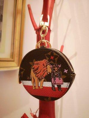 Schlüssel-/Taschenanhänger und Etui, Löwe, golden NEU