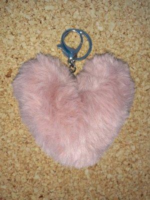 Porte-clés argenté-rose clair