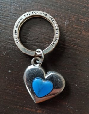 Depeche Key Chain silver-colored-steel blue