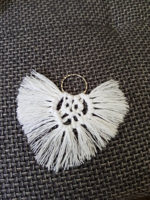 Bid Handmade Key Chain white