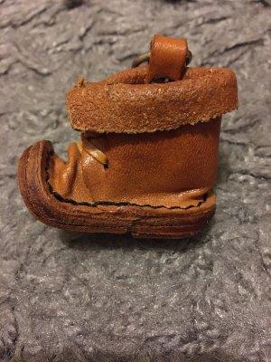 Llavero coñac-marrón Cuero