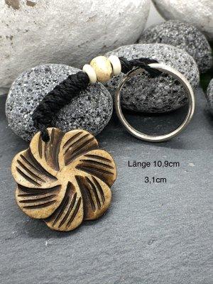 Schlüsselanhänger Blüte Bone 3,1 cm