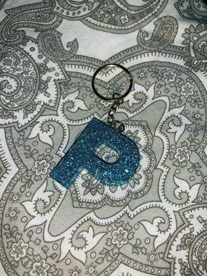 Porte-clés bleu-bleu fluo