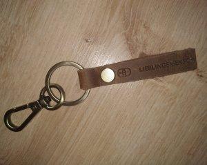 Schlüsselanhänger Echtes Leder mit Gravur Vintage Schlüsselring Geschenk Lieblingsmensch Partner Liebe Familie