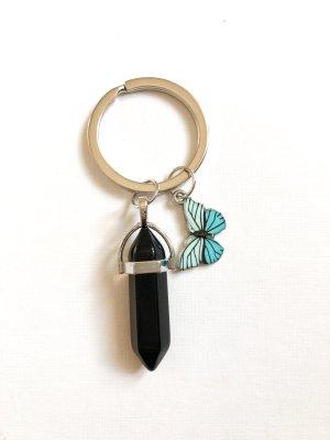 Schlüsselanhänger Edelstein & Schmetterling