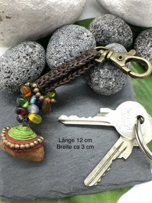 Handmade Key Chain multicolored cotton