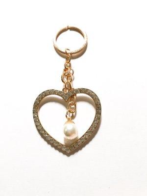 Schlüsselanhänger Herz & Perle