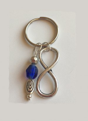 no name Key Chain silver-colored-blue metal