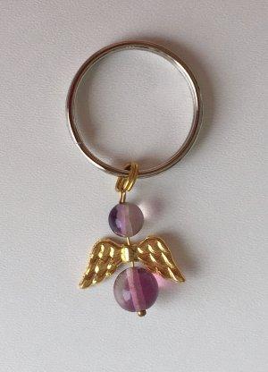 no name Key Chain gold-colored-grey violet mixture fibre