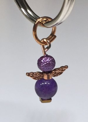 no name Porte-clés argenté-violet tissu mixte
