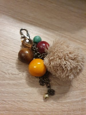 Key Chain multicolored mixture fibre