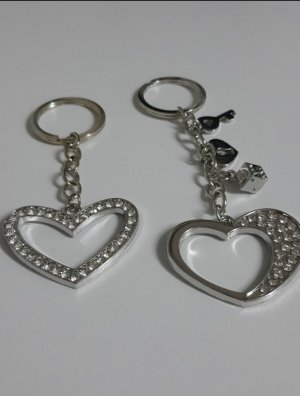 Bijou Brigitte Key Chain silver-colored