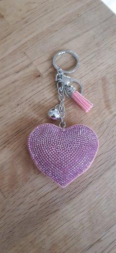 Schlüsselanhänger Neu Herz rosa