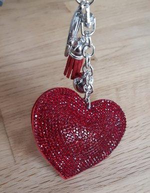 Schlüsselanhänger Neu Herz rot