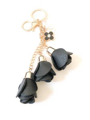 Schlüsselanhänger Rosen schwarz