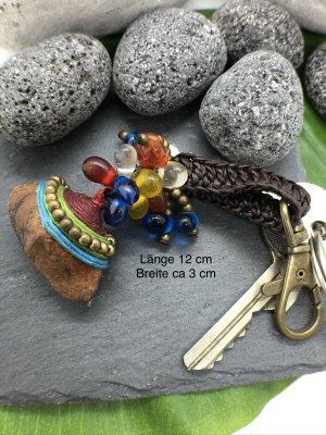 Handmade Portachiavi multicolore Cotone