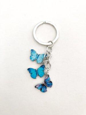 Schlüsselanhänger Schmetterlinge blau