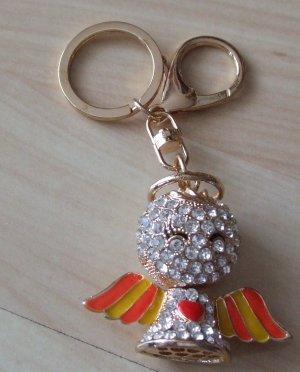 Schlüsselanhänger/Taschenanhänger Engel Strass