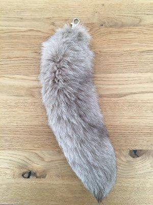 Llavero taupe-marrón grisáceo Piel