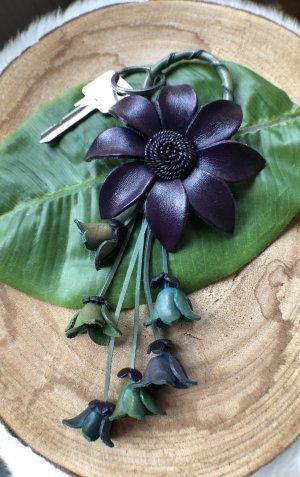 Handmade Key Chain multicolored leather