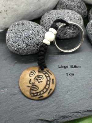 Schlüsselanhänger Ying Yang Mond Sonne Bone 3 cm