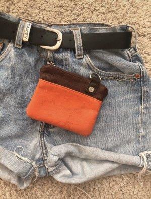 Etui na klucze rudy-pomarańczowy