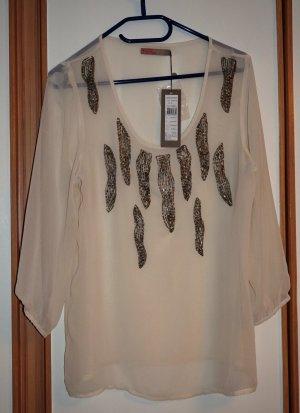 Schlupf-Bluse,Gr.M,von SAINT TROPEZ,Perlenstickerei