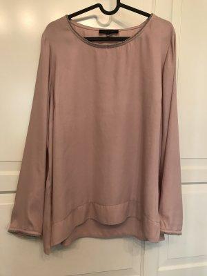 Cortefiel Slip-over Blouse dusky pink-pink polyester