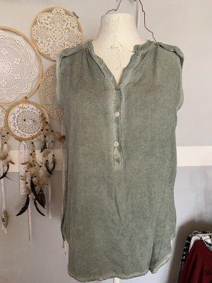 new collection Camicetta da notte verde-grigio