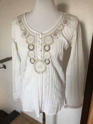 Yessica Camicetta da notte bianco-bianco sporco