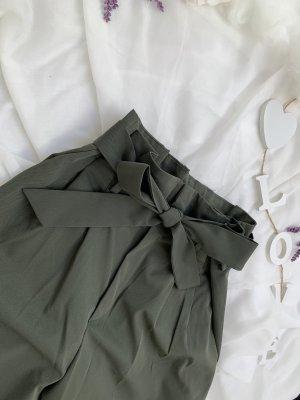 H&M High Waist Trousers green grey