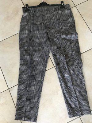Lands' End Wełniane spodnie ciemnoniebieski-jasnobeżowy