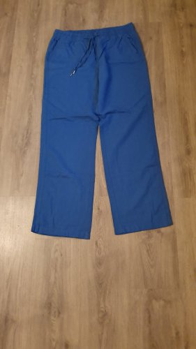 Yessica Pantalone di lino blu neon