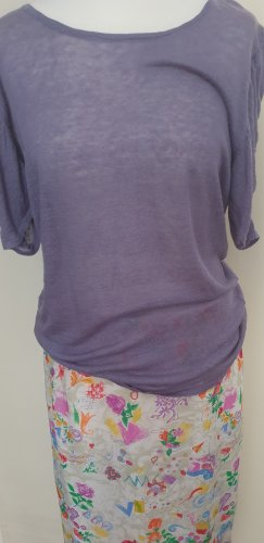 Slip-over blouse mauve-paars