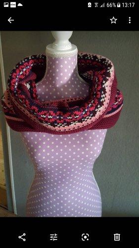 Wollen sjaal roze