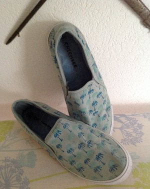 Chiemsee Slip-on Sneakers light blue-azure cotton