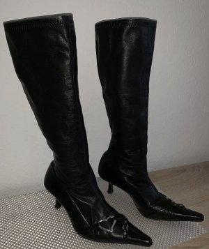 Zara Stretch Boots black-silver-colored