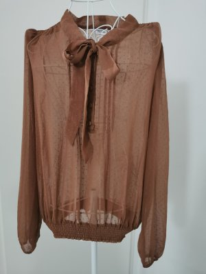 Yessica Tie-neck Blouse bronze-colored