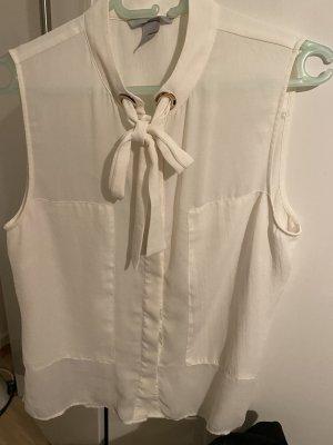 H&M Blouse avec noeuds crème polyester