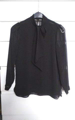 Zara Trafaluc Stropdasblouse zwart Polyester