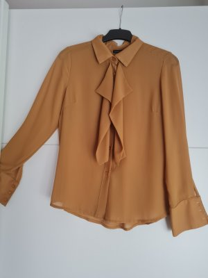 Ruffled Blouse sand brown