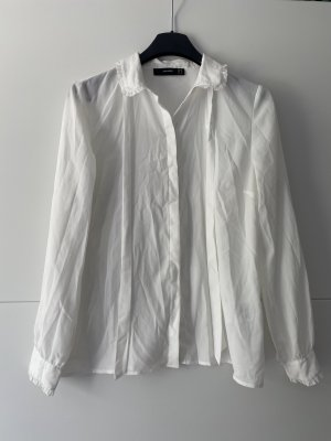 Hallhuber Blouse avec noeuds blanc