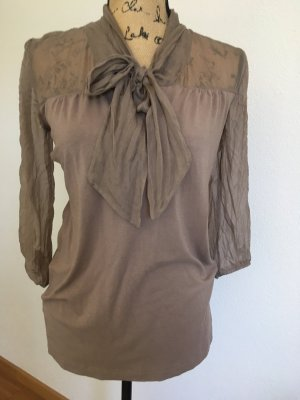 BC Collection Tie-neck Blouse taupe